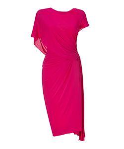 Donna Karan New York   Shocking Ridge Pleated Low Back Dress Gr. 40
