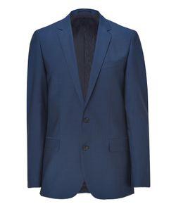 Hugo   Medium Blue Stretch Virgin Wool Amaro/Heise Blazer Gr. 48