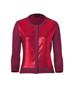 L\'Wren Scott | Bordeaux Sequinned Cashmere Cardigan Gr. L