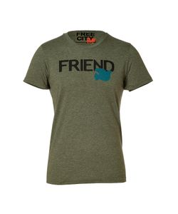Free City | Greenmilk Friend Print T-Shirt Gr. L