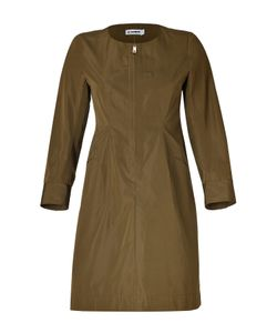 Jil Sander | Olive Cotton-Silk Dress Gr. 34