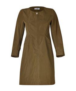 Jil Sander | Olive Cotton-Silk Dress Gr. 34