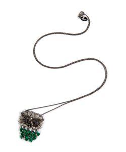 Nikos Koulis | Rhodium Owl Pendant Necklace Gr. One Size