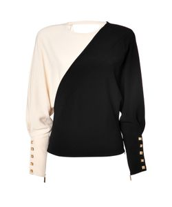 Emanuel Ungaro | Two-Tone Top In Black/Beige Gr. 36