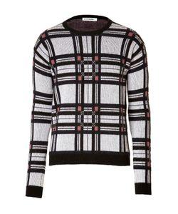 Jil Sander | Cashmere Pullover In Blue Tartan Gr. 34