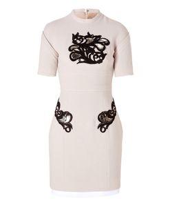 Marios Schwab | Wool Short Dress With Waist Panel In Blush Gr. 34