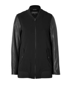 Rag & Bone | Leather Sleeve Pacific Jacket In Black Gr. M