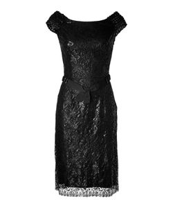 Collette Dinnigan | Beaded Lace Dress In Black Gr. L
