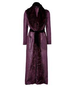 Marios Schwab | Long Coat In Burgundy Gr. 36
