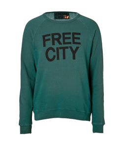 Free City | Cotton Printed Sweatshirt In Forest Gr. L