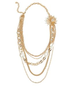 R.J.Graziano   Crystal Burst Necklace In Gold Gr. One Size