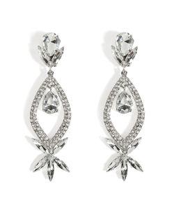 R.J.Graziano   Crystal Teardrop Earrings Gr. One Size