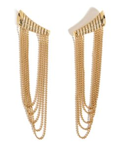 Nikos Koulis | 18kt Yellow Gold Star Earrings With White Diamonds Gr. One Size