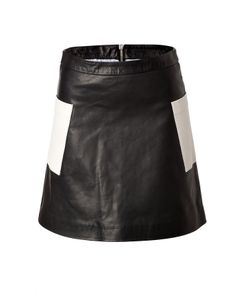 Girl By Band Of Outsiders | Leather Patchworked Skirt Gr. M