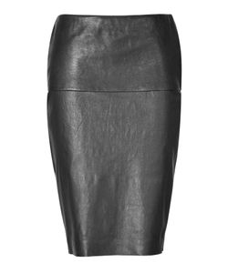 Donna Karan New York | Stretch Lambskin Pencil Skirt Gr. Us 4