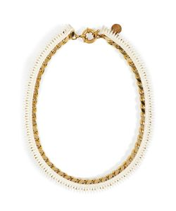 Annelise Michelson | Chainlink/Leather Necklace Gr. One Size