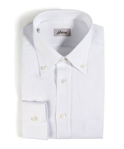 Brioni | Classic Linen Long Sleeve Button Down Gr. 6