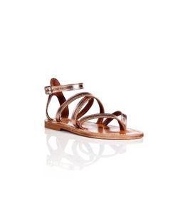 K. Jacques   Metallic Leather Epicure Sandals Gr. 35
