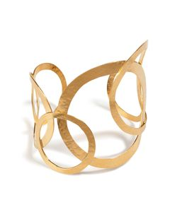 Hervé van der Straeten | Hammered Gold-Plated Hoops Bracelet Gr. One Size