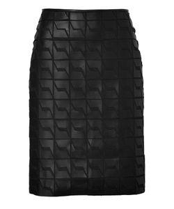 Fendi | Leather/Silk Chiffon Pencil Skirt Gr. It 40