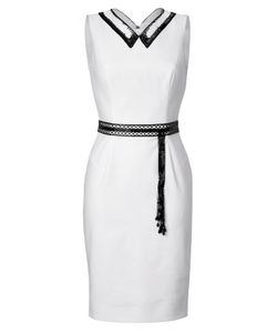 L\'Wren Scott | Sheath With Beaded Collar And Belt Gr. It 42