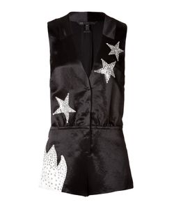 Marc by Marc Jacobs | Satin Stud Embellished Stars Playsuit Gr. 32