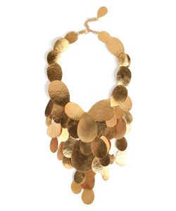 Hervé van der Straeten | Hammered Gold-Plated Tears Layered Necklace Gr. One Size