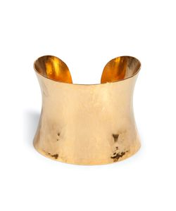 Hervé van der Straeten | Hammered Gold-Plated Brass Cuff Gr. One Size