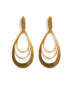 Hervé van der Straeten | Hammered Gold-Plated Epure Earrings Gr. One Size