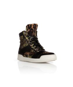 Balmain | Cotton/Leather Printed Sneakers Gr. 40