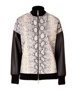 Emanuel Ungaro | Python Printed Leather Jacket Gr. It 38