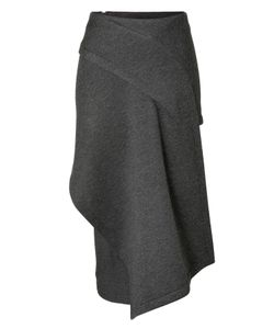 Donna Karan New York | Draped Front Midi-Skirt Gr. 40