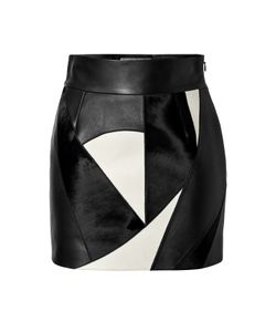 Fausto Puglisi | Leather Patchwork Skirt Gr. 36