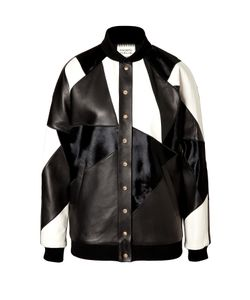 Fausto Puglisi | Leather Patchwork Bomber Jacket Gr. It 42