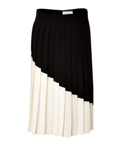 Fausto Puglisi | Colorblock Pleated Wool Skirt Gr. It 38