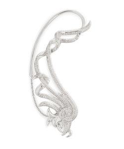 Nikos Koulis | 18kt White Gold Fontana Earring With White Diamonds Gr. One Size