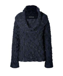Donna Karan New York   Wool-Mohair Off-The-Shoulder Pullover Gr. M