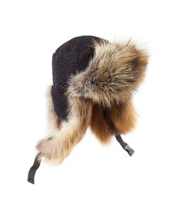 Preen By Thornton Bregazzi | Sky Hat With Shearling And Fox Fur Gr. Xs