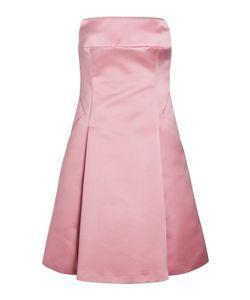 Jil Sander Navy | Satin Strapless Dress Gr. 34