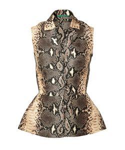 Emilia Wickstead | Snake-Print Silk Top Gr. Uk 8