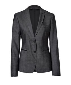 Clemens en August | Tailored Blazer With Leather Trim Gr. 34