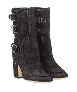 Laurence Dacade | Suede Ankle Boots With Macramé Lace Gr. 36