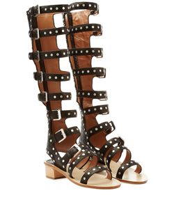 Laurence Dacade | Hanna Studded Leather Gladiator Sandals Gr. 38