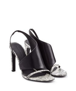 Alexander Wang | Lizard Embossed Leather Sandals Gr. 40