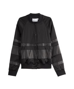 T By Alexander Wang | Leather Detailed Baseball Jacket Gr. 40