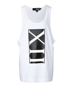 CARA D. X DKNY | Cotton Scoop Neck Tank With Print Gr. S