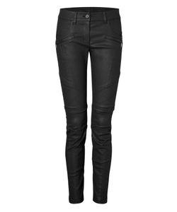 CARA D. X DKNY | Stretch Cotton Moto Pants Gr. 40