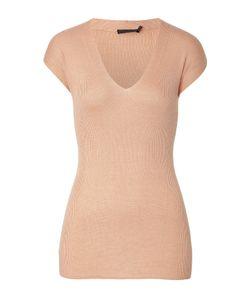 Donna Karan New York   Cap Sleeve Cashmere-Blend Top Gr. S