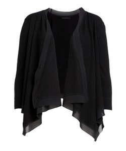 Donna Karan New York | Draped Front Cardigan With Silk Gr. L