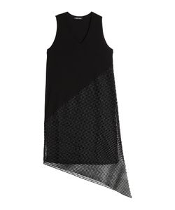 Damir Doma   Asymmetric Dress With Mesh Gr. Fr 38
